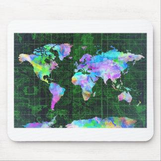 Weltkarte-Aquarell 23 Mauspad