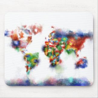 Weltkarte-Aquarell 24 Mauspad