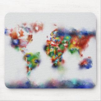 Weltkarte-Aquarell 25 Mousepads