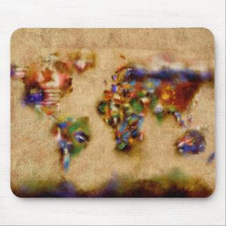 Weltkarte-Aquarell 26 Mauspads