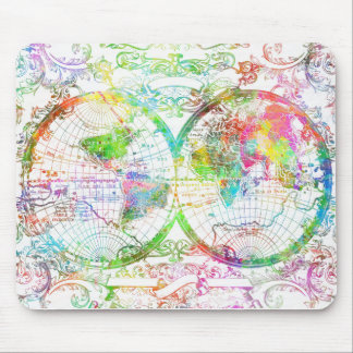 Weltkarte-Aquarell 27 Mauspad