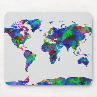Weltkarte-Aquarell 29 Mousepads