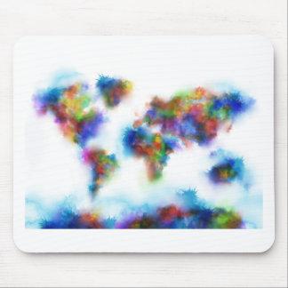 Weltkarte-Aquarell 2 Mauspads