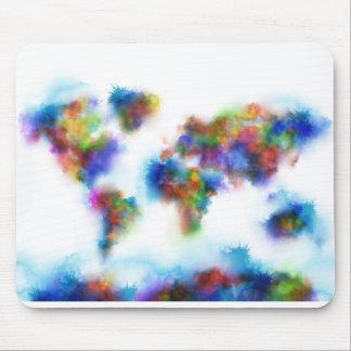 Weltkarte-Aquarell 2 Mousepad