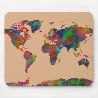 Weltkarte-Aquarell 31 Mousepad