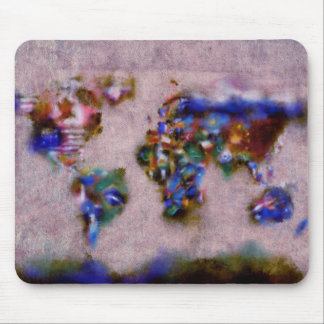 Weltkarte-Aquarell 32 Mousepads