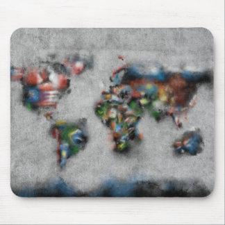 Weltkarte-Aquarell 33 Mauspads