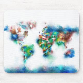 Weltkarte-Aquarell 34 Mauspads