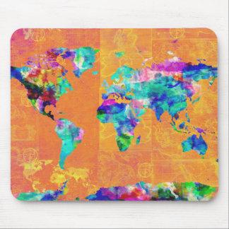 Weltkarte-Aquarell 3 Mousepad