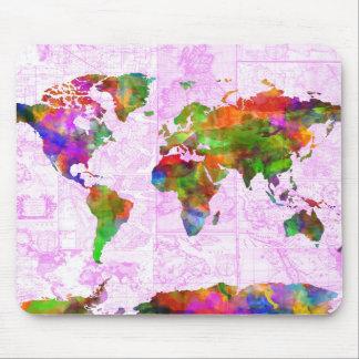 Weltkarte-Aquarell 4 Mauspads