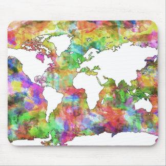Weltkarte-Aquarell 5 Mauspad