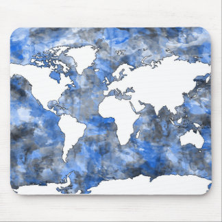 Weltkarte-Aquarell 7 Mousepads
