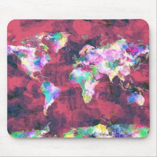 Weltkarte-Aquarell 8 Mauspad