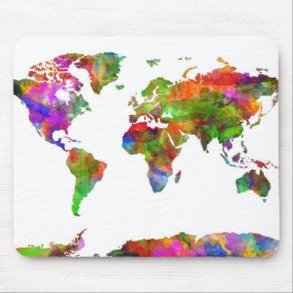Weltkarte-Aquarell 9 Mauspads