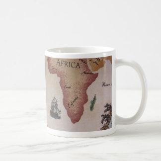 Weltkarte -- Atlantik Kaffeetasse
