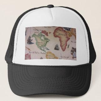 Weltkarte -- Atlantik Truckerkappe