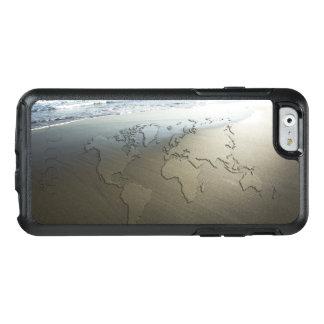 Weltkarte auf Sand OtterBox iPhone 6/6s Hülle