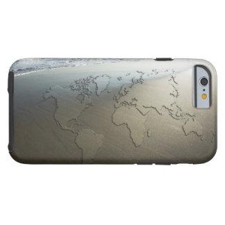 Weltkarte auf Sand Tough iPhone 6 Hülle