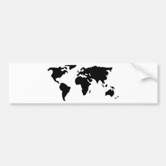 Weltkarte Autoaufkleber