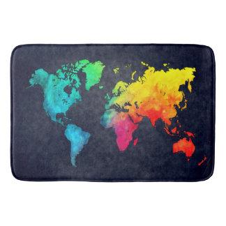 Weltkarte Badematten