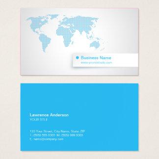 Weltkarte-blaue Technologie-globales Geschäft Visitenkarte