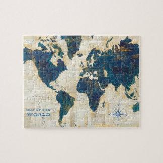 Weltkarte-Collage Puzzle