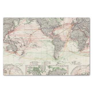 Weltkarte der Ozean-Strom Seidenpapier