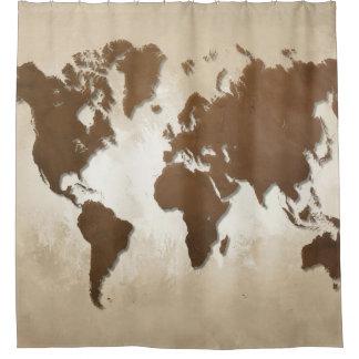 Weltkarte des Entwurfs 64 Duschvorhang