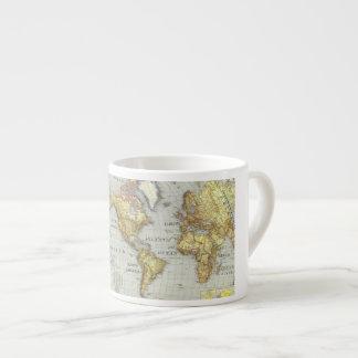 Weltkarte-Espresso-Cup Espressotasse