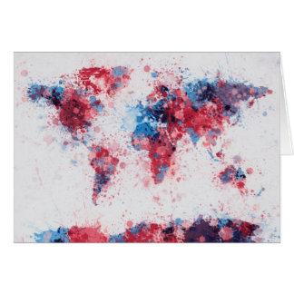 Weltkarte-Farbe spritzt Karte