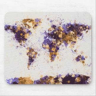 Weltkarte-Farbe spritzt Mousepad