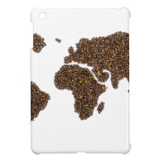 Weltkarte gefüllt mit Kaffeebohnen iPad Mini Hülle