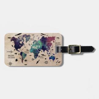 Weltkarte-Gepäckanhänger Gepäckanhänger