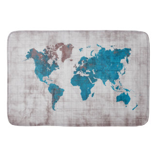 Weltkarte große Bad-Matte Badematte