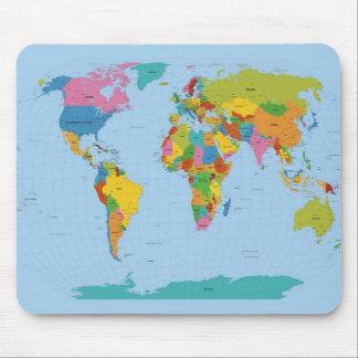 Weltkarte hell mousepad