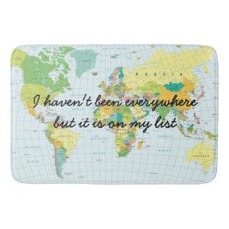 Weltkarte - ich bin nicht überall… gewesen badematten