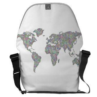 Weltkarte Kurier Taschen