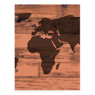 Weltkarte-Marke Postkarte