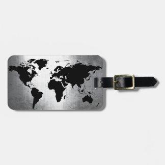 Weltkarte-Metall Kofferanhänger