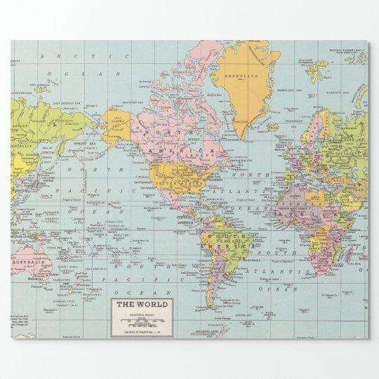 geschenkpapier weltkarte Weltkarte Packpapier Geschenkpapier | Zazzle geschenkpapier weltkarte