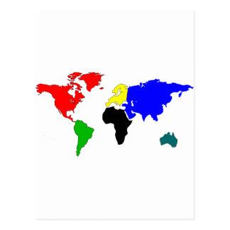 Weltkarte Postkarte