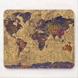 Weltkarte Vintag Mousepads
