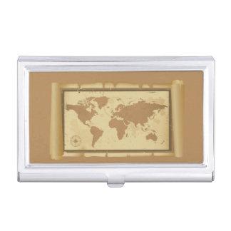 Weltkarte-Visitenkarte-Halter Visitenkarten Etui