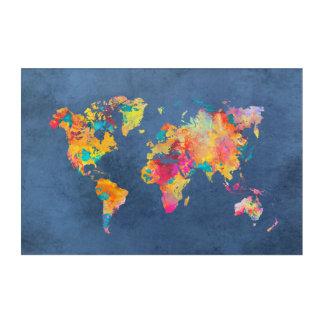 Weltkarteacryl Acryldruck