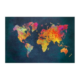 Weltkarteacrylkunst Acryldruck
