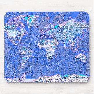 Weltkarteblau 1 mauspads