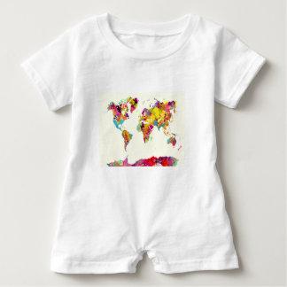 Weltkartefarben Baby Strampler