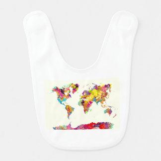Weltkartefarben Babylätzchen
