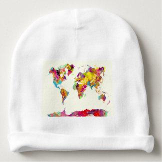 Weltkartefarben Babymütze