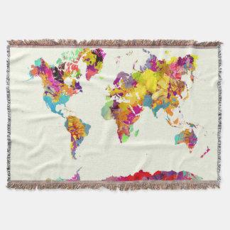 Weltkartefarben Decke